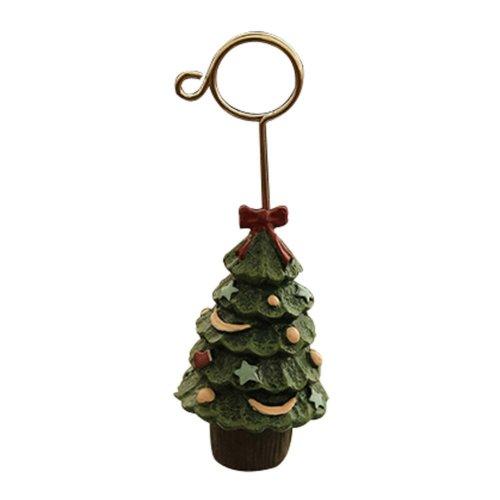 2 PCS Creative Cartoon Pattern Christmas Tree Resin Office Memo Holders