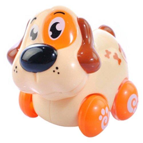 Set of 2 Baby's Cartoon Dog Wind-up Car Toy Car(Multicolor)