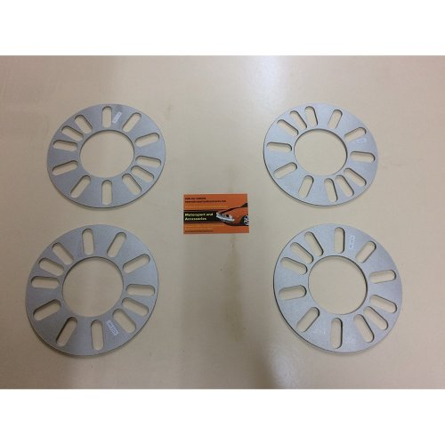 3MM WHEEL SPACERS 4 AND 5 STUD UNIVERSAL FIT X4