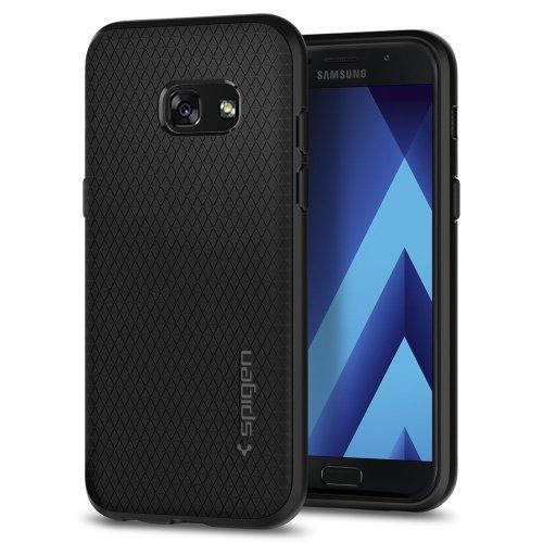 Spigen 572CS21140, Galaxy A3 2017 Case, Liquid Air, Black, Slim Flexible TPU Case for Samsung Galaxy A3