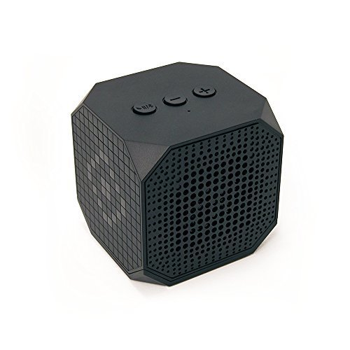 MQbix MQBK3010BLK MUSICUBE Wireless Portable Bluetooth Speaker with Built In Mic for Bluetooth Enabled Devices Black