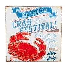 San Fran' Nautical 'Crab Festival' Canvas Print Wall Art for the Home
