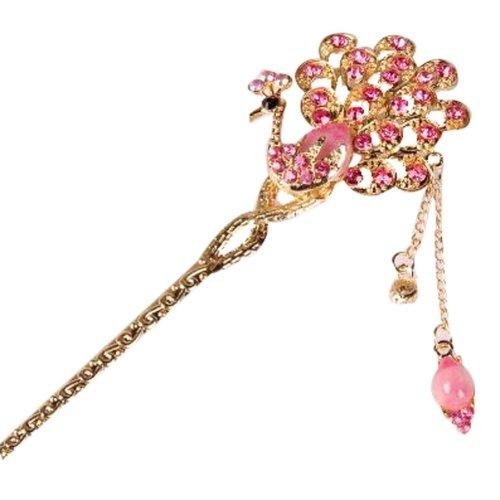 Classical Moods Hairpin Hair Ornaments Hair Clip Tassels Headwear Crown Pink