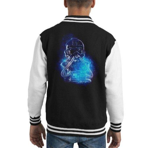 Original Stormtrooper Imperial TIE Pilot Space Kid's Varsity Jacket
