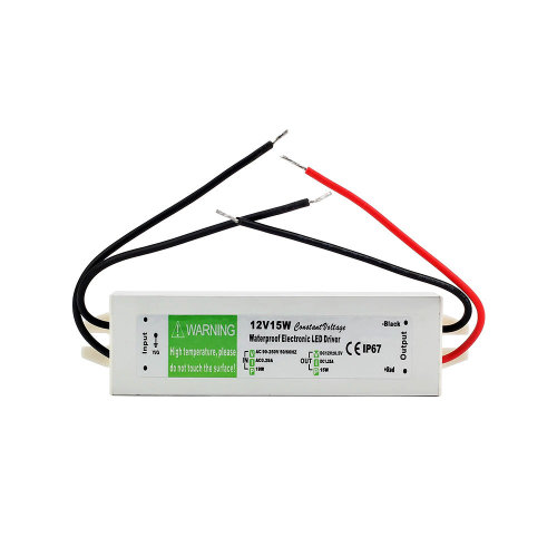 15W Waterproof IP67 LED Driver Power Supply Transformer 240V DC12V