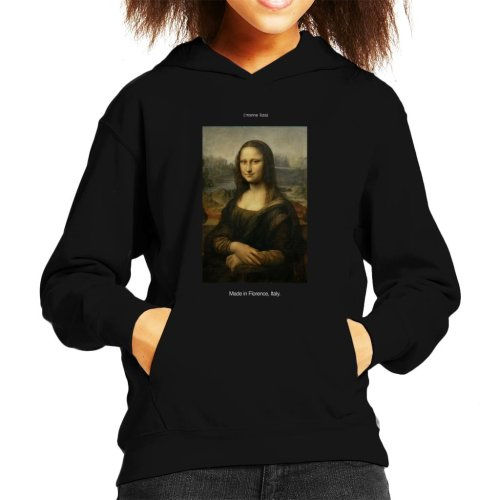 A.P.O.H Da Vinci Mona Lisa Made In Florence Italy Kid's Hooded Sweatshirt