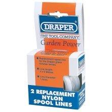 Nylon Line 6m X 1.4mm (2 Pcs) -  draper replacement nylon spool lines x 56726 two 6m 14mm
