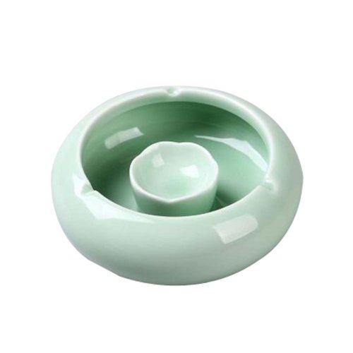 Simple Continental Ashtrays Home Office Decoration Ashtrays, Celadon GREEN