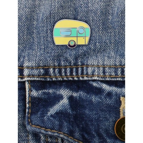 Grindstore Happy Camper Enamel Pin Badge