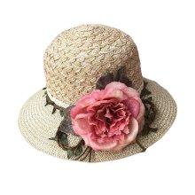 9c3ae76776fbc Women Fashion Summer Straw Hat Sun Hat Folding Travel Beach Cap Wide Brim  Hat