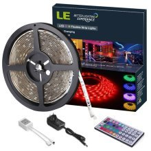 LE 12V DC Waterproof RGB LED Strip Lights Kit,150 Units SMD 5050 LEDs