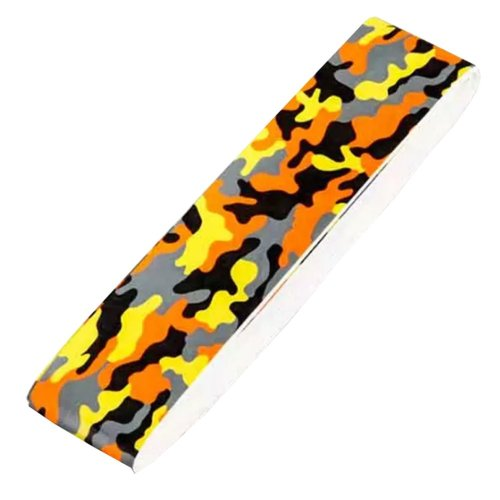 2 PCs Camouflage PU Soft Absorb Moisture Anti-slip Overgrip for Badminton,Orange