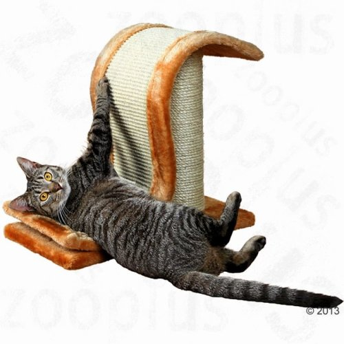 Cat Scratching Wave Post Pad Compact Sisal Stylish