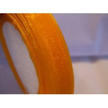 Organza Ribbon Roll - 10mm x 50 Yards (45 Metres) - Orange