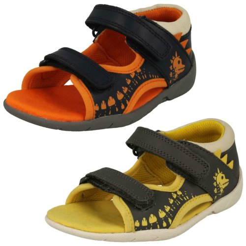 Clarks G Sandals Fit Boys Casual Jump Fudgy 6bgf7vYy
