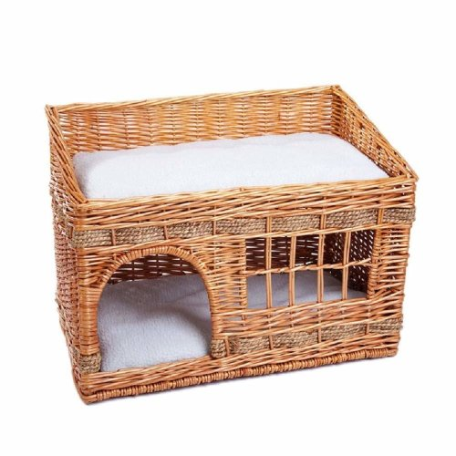 Wicker Cat Den Bed