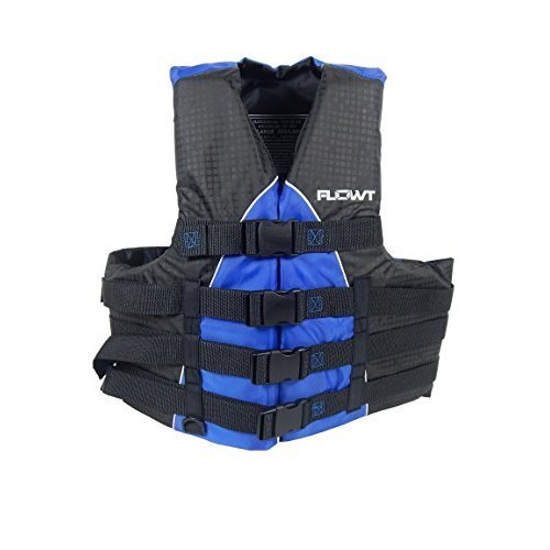 Flowt 40401 2 2X 3X Extreme Sport Life Vest Type Iii Pfd Closed Sides Blue 2Xl 3Xl Fits Chest Sizes 50 60