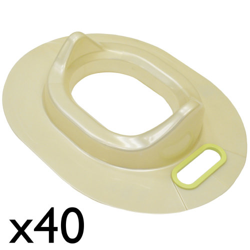 BABY - Toilet Trainer Seat - Bulk Pack of 40 - Ivory / Green