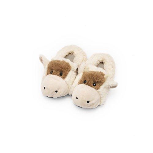 Cozy Heads Kids Cow Heatable Slippers - Kids