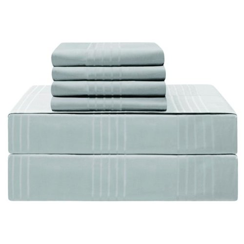 Jean Pierre YMS008220 Premium 420 Thread Count 100 Percent Cotton Sheet Set, Spa Blue - Queen - 6 Piece