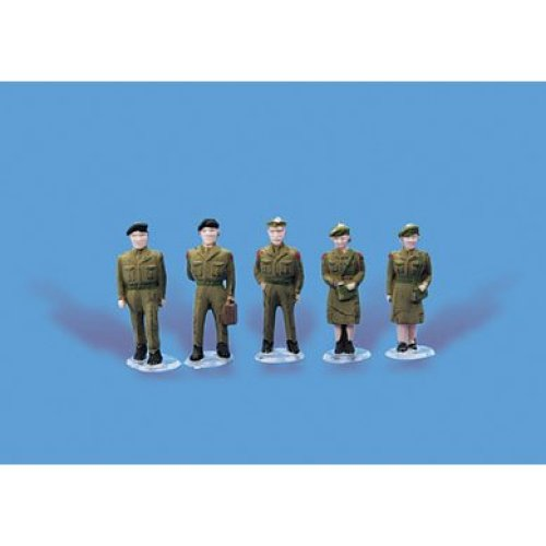 Army personnel - OO/HO unpainted figures - Model Scene 5116 - free post