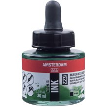 Amsterdam Acrylic Ink 30ml-Olive Green Deep