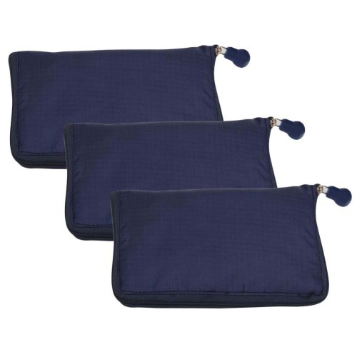 Dark Blue - 3 Pieces Reusable Grocery Bags Portable Boutique Shopping Bags Supermarket Foldable Tote Bags