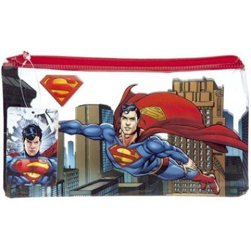 Plano Portatodo Superman - Pencil Case Dc Comics Batman School Stationery -  pencil case superman dc comics batman school stationery