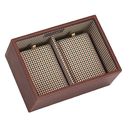 Stackers Men's Casual Brown Mini Watch with Check Lining