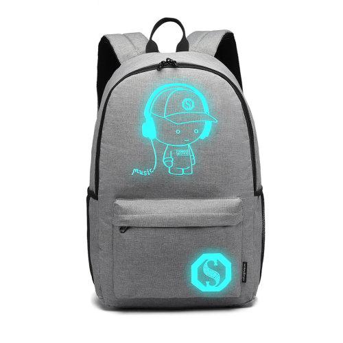 Miss Lulu Anime Luminous Backpack Waterproof School Bags for Boys Girls Travel Rucksack Daypack