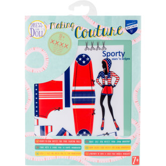 Dress Your Doll Making Couture Outfit Set-Sporty Stars & Stripes