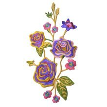 Sew on Patches Embroidery Applique Cloth Appliques Patch - Gorgeous Bloomy Peony