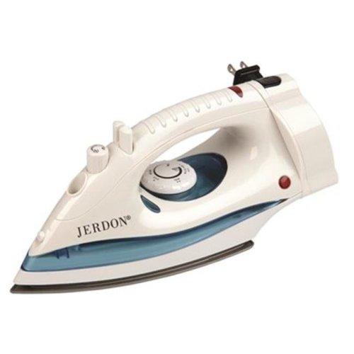 Jerdon 3570946 Hotel Midsize Dual Auto Shut-Off Iron with Retractable Cord, White - 1200 watts