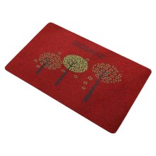 2 PCS Door Mats Living Room/Bathroom/Kitchen Foot Pad Non-slip Mats-Wine