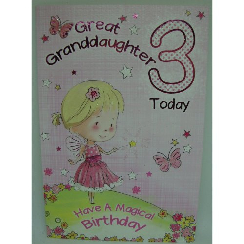 Great Granddaughter 3rd 3 Today Happy Birthday Card With A Lovely