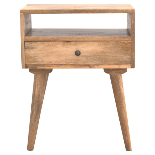 Nordic Designed Bedside with 1 Drawer & Open Slot