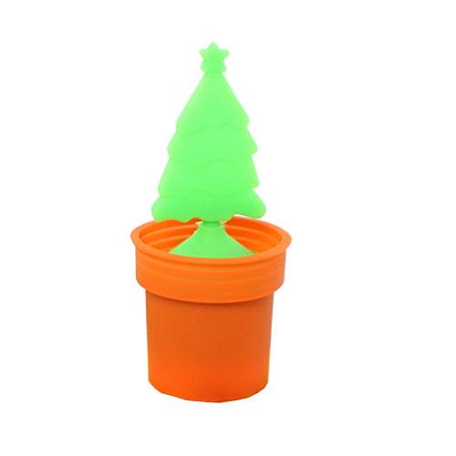 Creative Home Furnishing (Christmas Tree) Non-toxic Tea Mesh Strainer,ORANGE