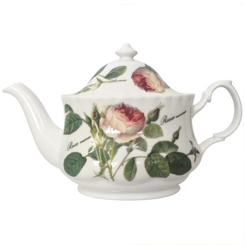 Roy Kirkham Small Oval Teapot Redoute Rose