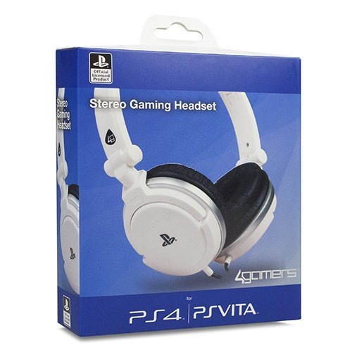 4gamers Stereo Gaming Headset for Playstation 4 Ps4 White