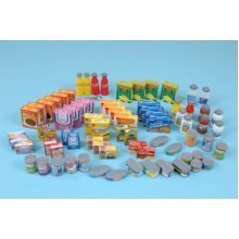 Childrens 75 Piece Supermarket Food Play Set (A1440)