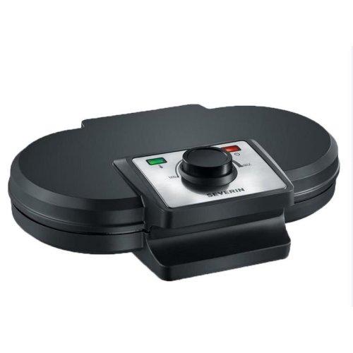 Severin WA2106 1200W Double Waffle Maker Power Indicator With Black Finish