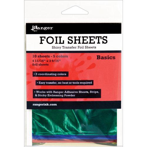 "Inkssentials Foil Sheets 4.69""X3.56"" 10/Pkg-Basics 4.69""X3.56"""