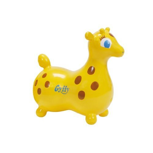 Ledraplastic Gyffy The Giraffe Hop & Ride On, Yellow