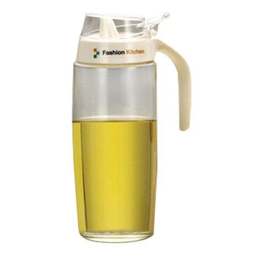 Creative Oil / Vinegar Cruet Square Glass Bottle  White