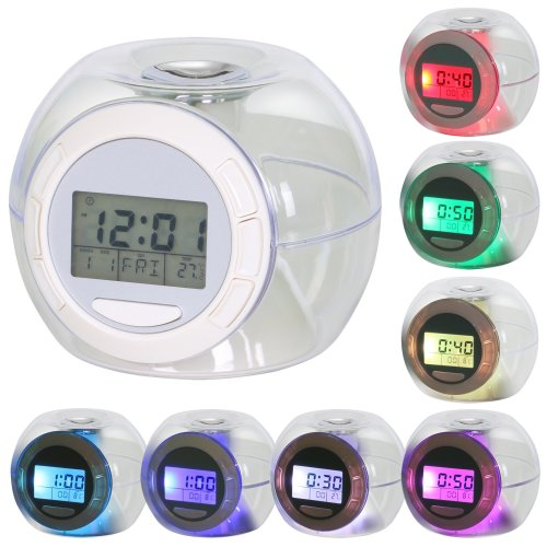 TRIXES Multi Colour Changing LED Digital Alarm Clock