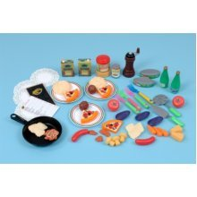 Childrens 54 Piece Italian Food Play Set (A1434)