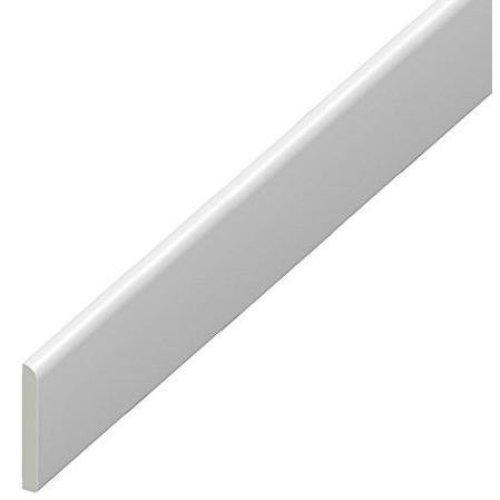 65mm uPVC Architrave - Plastic Skirting Board - 1m Lengths