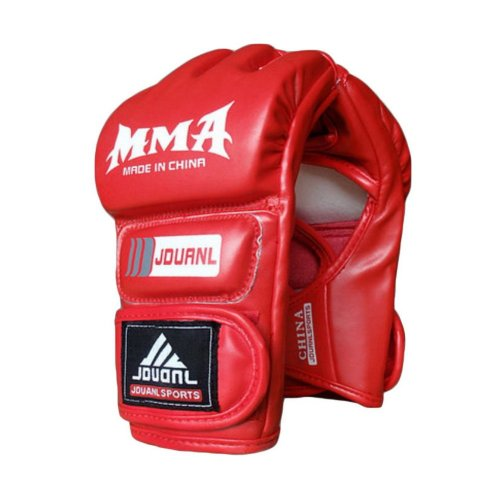 Adult Fighting Half-finger Gloves -UFC Boxing Gloves - Gloves MMA 2 -- Red