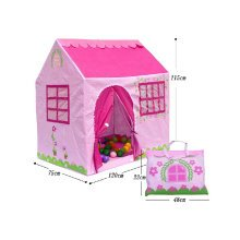 Pink House Shape Kids Play Tents Indoor/Outdoor Play Tent (Under 6 Years Old)