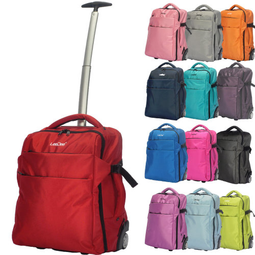3 in 1 GEEZY Wheeled Cabin Size Travel Backpack Trolley Bag